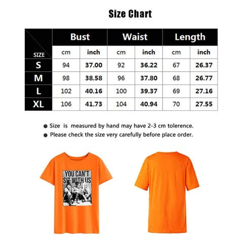 You Can't Sit with Us T-Shirts Women's Funny Graphic Novelty Short Sleeve Top... - X-Large