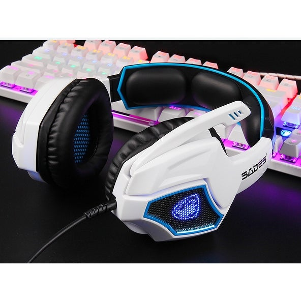 9ee80d3e9aa Shop SADES Spirit Wolf 7.1 Surround Sound Stereo USB Gaming Headset with  MIC - Free Shipping On Orders Over $45 - Overstock - 21128105
