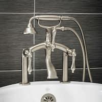 Pelham & White Luxury Tub Filler Faucet, Vintage Design, Deck Mount Installation, Lever Handles, Bru