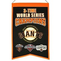 San Francisco Giants 3 Time World Series Champions Banner