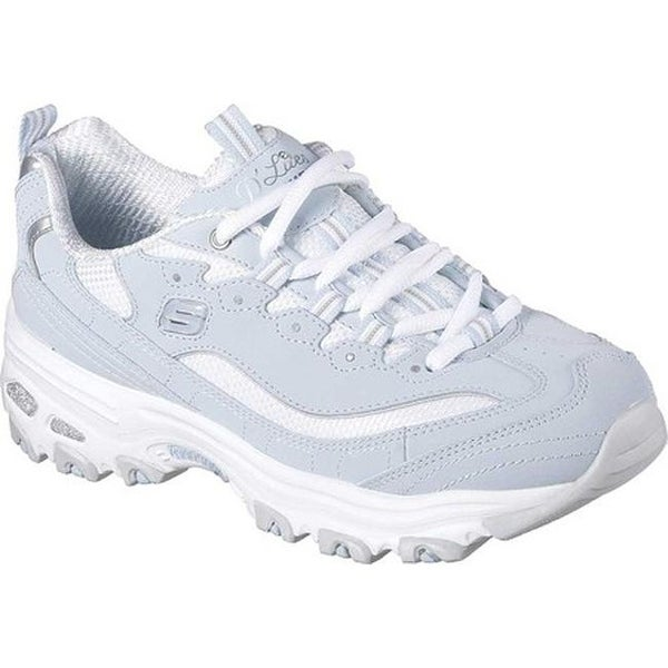 Shop Skechers Women's D'Lites Sneaker Biggest FanLight Blue