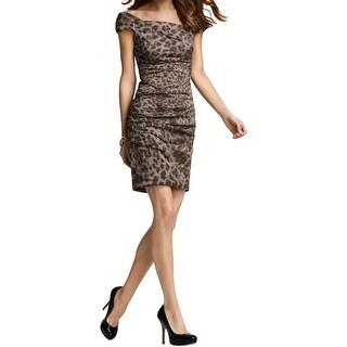 Nicole Miller Womens Cocktail Dress Metallic Sleeveless - 6