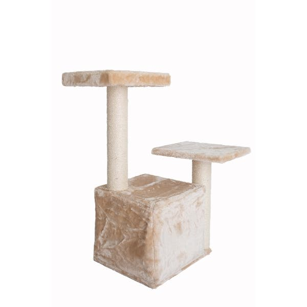 Armarkat Classic Cat Tree A3207 32 Inch Beige Overstock 32000181