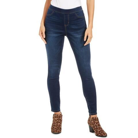 Style & Co Women's Petite Fleece-Lined Skinny Jeggings Blue Size Petite - Pet/Med