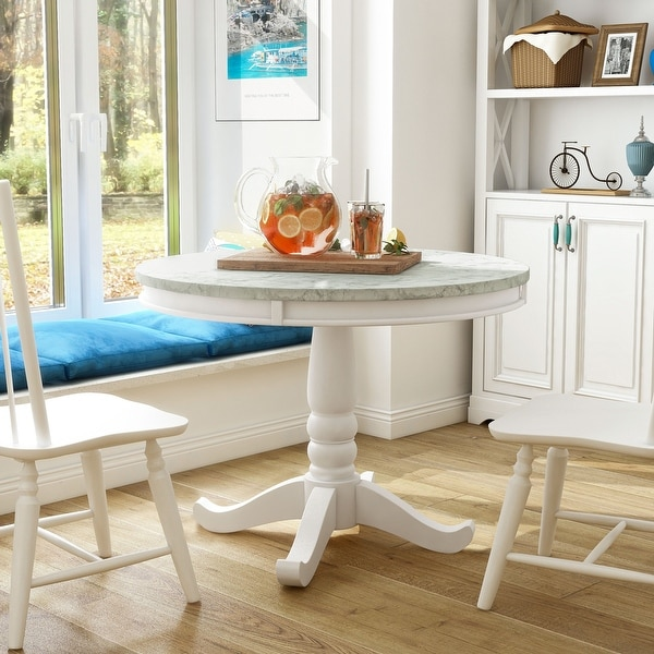 Furniture of America Ten Country White 42-inch Round Dining Table. Opens flyout.