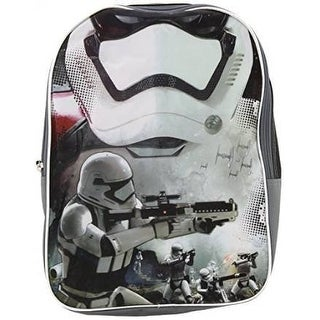 Star Wars Ep7 16-Inch Backpack Plain Front with Storm Trooper