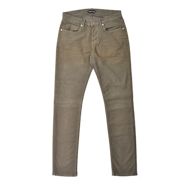 253e9df4acad23 Tom Ford Mens Light Olive Green Cotton Slim Fit Jeans SZ US30 RTL$650 - 30