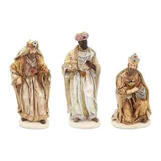 "Set of 3 Christmas Nativity Scene Pieces With Three Wisemen 12"""