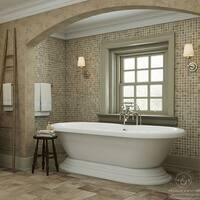 Pelham & White Luxury 60 Inch Vintage Pedestal Tub with Nickel Drain