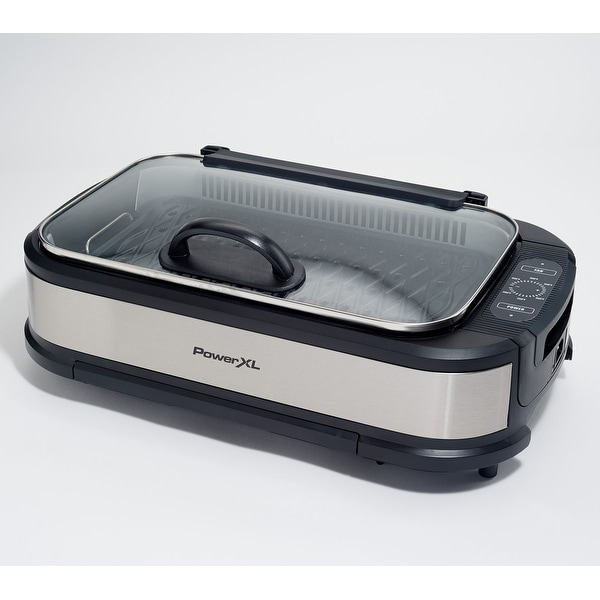PowerXL 1500W Smokeless Grill Pro with Griddle Plate Model K50547. Opens flyout.
