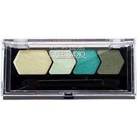 Maybelline EyeStudio Color Plush Silk Eyeshadow Quad, Gutsy Green [85], 0.09 oz