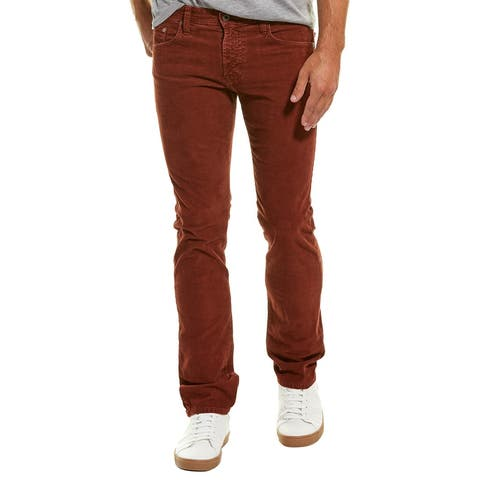 Ag Jeans The Matchbox Sulfur Rmz Corduroy Slim Straight Leg