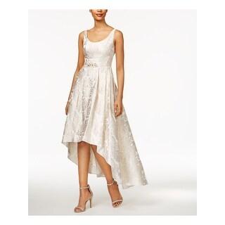 Link to BETSY & ADAM Gold Sleeveless Maxi Hi-Lo Dress  Size 2P Similar Items in Petites