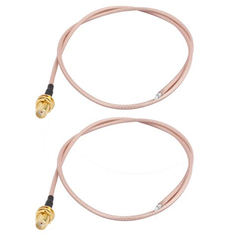 2PCS RG316 Soldering Wire SMA-K Antenna WiFi Pigtail Cable 50cm