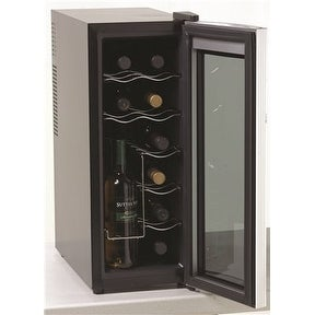 Avanti Ewc1201 Avanti 10 In. Counter Top Wine Cooler 12 Bottle Capacity Black With Platinum Finish