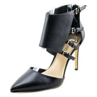 Nine West Trust Me Pointed Toe Leather Heels