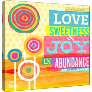 "PTM Images 9-100983  PTM Canvas Collection 12"" x 12"" - ""Dream Every Day - Abundance"" Giclee Love and Joy Art Print on Canvas"