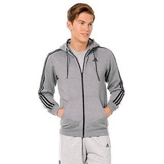 Adidas Mens Ess 3S Fz Hoodb, Corhtr,Black - XL