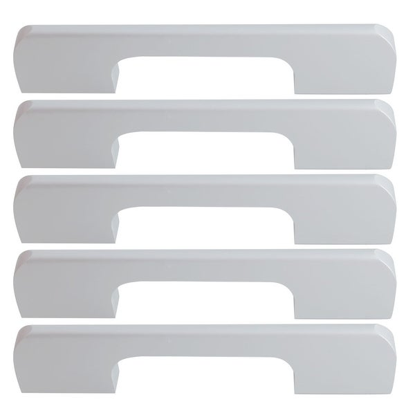 """Cabinet Handles Pull Space Aluminum 5"""" Hole Center for Furniture Door Cabinet Cupboard Wardrobe 5pcs Silver Tone"""