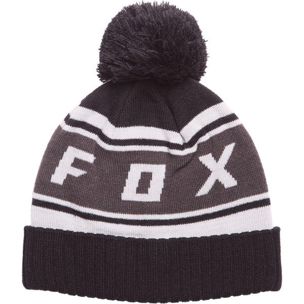 553f2165e63 Shop Fox Racing 2017 18 Mens Black Diamond Pom Beanie - 19778 - Free  Shipping On Orders Over  45 - Overstock - 17902511