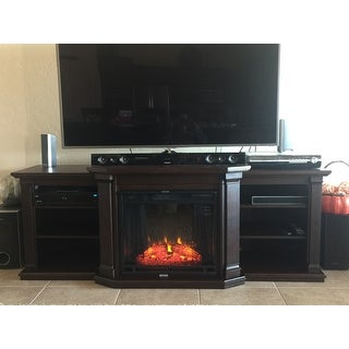 Top Product Reviews for Real Flame Valmont Chestnut Oak 75.5 in. L ...