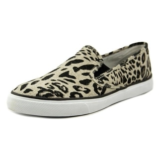 Sperry Top Sider Seaside Women Canvas Brown Fashion Sneakers