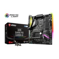 Msi Z370 Gaming Pro Carbon Ac Hdmi Sata 6Gb/S Usb 3.1  Atx Intel Motherboard