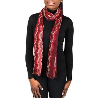 Missoni SC31VMD5927 0001 Red/Tan Wool Blend Womens Scarf
