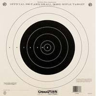 Champion Shooting Targets 100 yd. Small Bore Rifle - Single Bull (12 pack)