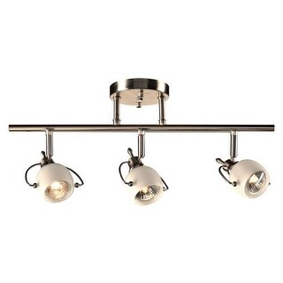 "PLC Lighting 5353 3 Light 20.5"" Wide ADA Compliant Track Lighting from the Focus Collection - Satin Nickel"