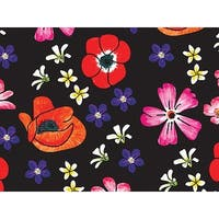 """Pack Of 120, Velvet Floral Recycled Floral Tissue Prints Paper 20"""" X 30"""" Sheets Made In Usa"""
