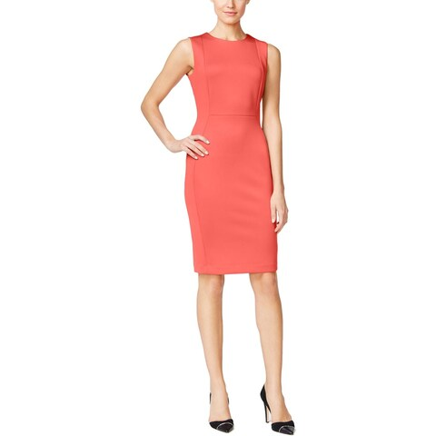 Calvin Klein Womens Scuba Dress Scuba Sleeveless