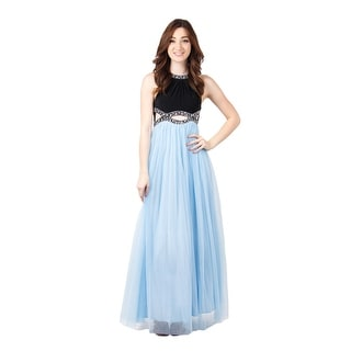 Jersey Tulle Gown Open Waist