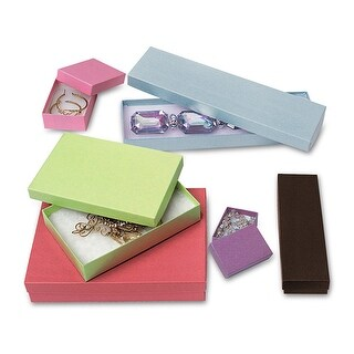 Pack of 72, Solid Kraft Jewelry Box Assortment 6 Sizes