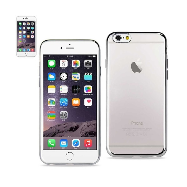 REIKO IPHONE 6 PLUS FRAME CASE WITH CLEAR BACK IN SILVER