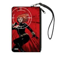 Black Widow Issue #4 Jumping Action Pose Target Reds Canvas Zipper Wallet