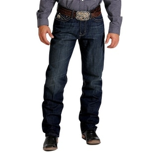 Cinch Western Denim Jeans Men Sawyer Loose Permanganate Dk MB60234001