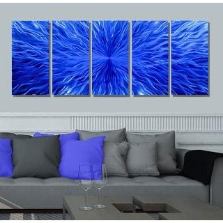 Statements2000 3D Modern Metal Wall Art Abstract Painting Decor by Jon Allen - Blue Vortex