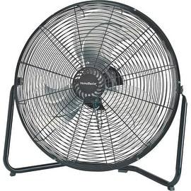 "Homebasix LF-18 High Velocity Floor Fan, 18"", Black"