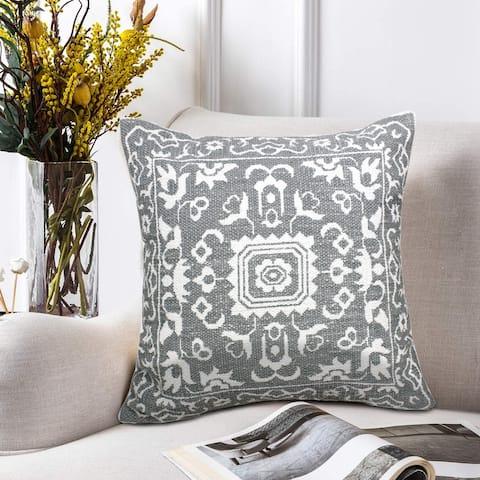 Revival Mosaic Medallion Printed Throw Pillow