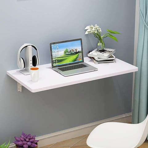 Wall Mounted Floating Folding Table Desk for Office Home Kitchen