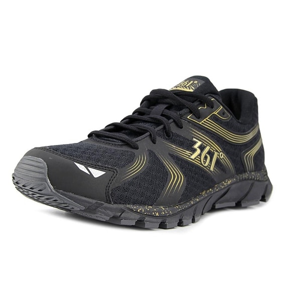 361 Wildstar Men Round Toe Synthetic Black Running Shoe