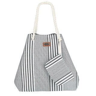 Sun N Sand Women's Striped Hobo Bag with Matching Clutch - One size
