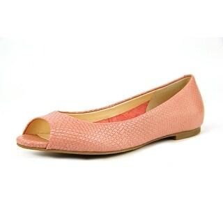 Cole Haan Morgan OT Ballet II Peep-Toe Leather Flats