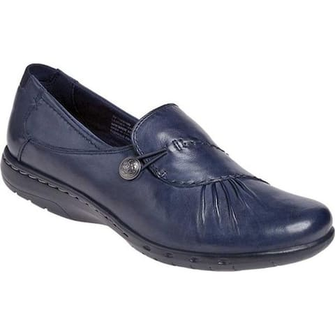 Rockport Women's Cobb Hill Paulette Navy Full Grain Burnished Leather
