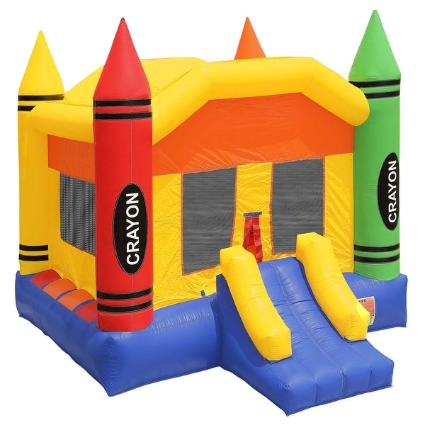 Inflatable HQ Commercial Grade Crayon Bounce House 100% PVC with Blower