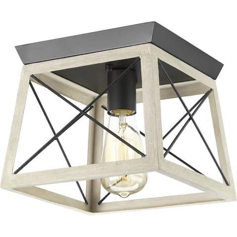 """Briarwood Collection 1-light Open Cage Flush Mount - 10.000"""" x 11.750"""" x 12.120"""""""