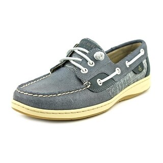 Sperry Top Sider Blue Fish Tie Stripe Moc Toe Leather Boat Shoe