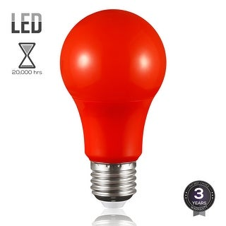 Red LED A19 Colored Light Bulb, E26 Medium Base, 7W (50W Equiv.), Non-Dimmable