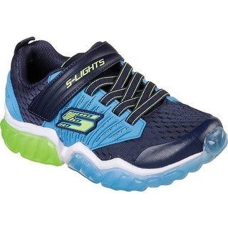 Skechers Boys' S Lights Rapid Flash Sneaker Navy/Blue